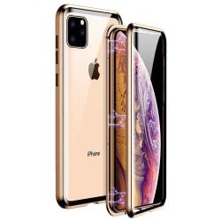 iPhone 11  Pro MAX Magnetiskt skal Härdat glas 360° skydd GULD