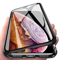 iPhone XR Magnetiskt 360° skydd Härdat glas SVART