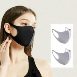 Munskydd Ansiktsmask Skyddsmask 2-pack GRÅ