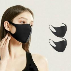 Munskydd Ansiktsmask Skyddsmask 2-pack SVART