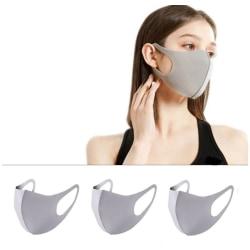 Munskydd Ansiktsmask Skyddsmask 3-pack GRÅ