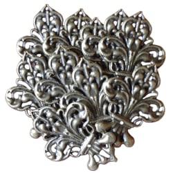 10 metalldekorationer i tunn antikbrons - fransk lilja