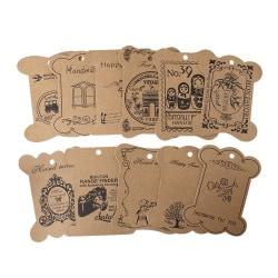 11 stycken tags - bandrullar - dekorationer