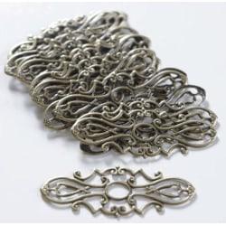 20 metalldekorationer i tunn antikbrons