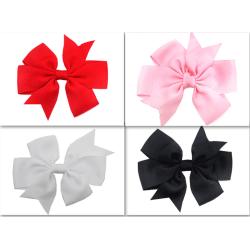 Hårspänne med rosett  4-pack