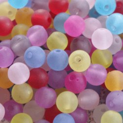 Pärlor i frostad akryl 6mm - 500-pack