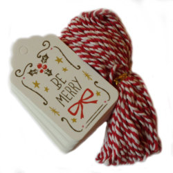 Tags - julklappsetiketter - 50-pack Be Marry