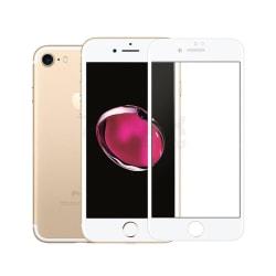 iphone 7/8 plus härdat glas 3D Top Kvalitet Skärmskydd - Vit