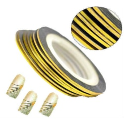1 rulle Striping/Dekorations tejp  Guld