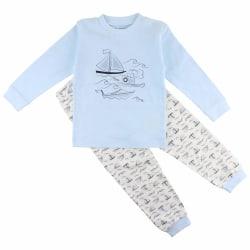 2-del Pyjamas med båtar, Fixoni LightBlue 92