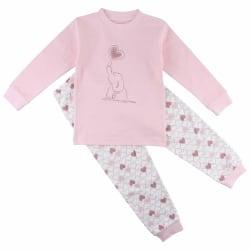 2-del Pyjamas med Elefant och hjärtan, Fixoni LightPink 98