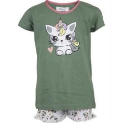 2-dels Pyjamas Enhörning Green 98/104