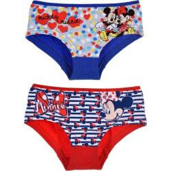 2 st Hipsters Mimmi Mouse - Blå/Röd Blue 4/5 år
