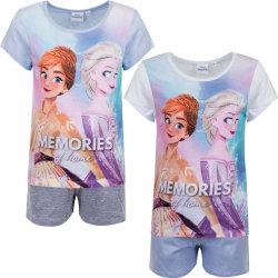 Disney Frost 2 delat set - T-shirt & Shorts / Kortärmad pyjamas Grey 5 år 110 cm Grå