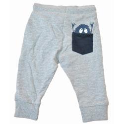 Jogging byxa baby med monster, Grå Grey 68
