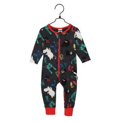 Mumin Fart Pyjamas, Mörkgrå, 62 cl, Martinex Mörkgrå