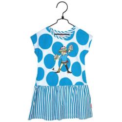 Pippi Långstrump Bubblor-klänning turkos Blue 110, 110