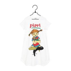 Pippi Långstrump kramar nattlinne  Martinex White 110/116