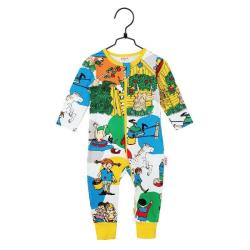 Pippi Långstrump Villekulla Pyjamas (Vit) Martinex MultiColor 80
