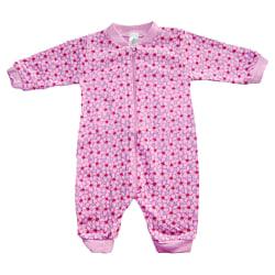 Pyjamasoverall med blommor Rosa/Lila, 56 cl Pink 56