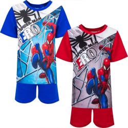 Spider-Man 2 delat set - T-shirt & Shorts / Kortärmad pyjamas Blue 3 år 98 cm Blå
