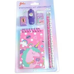 Stationery set Unicorn 6-pack multifärg