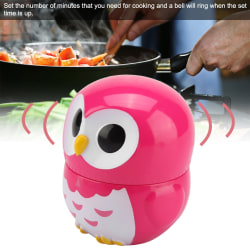Cute Owl Shape Kitchen Manual Timer Mechanical Home Cooking  red