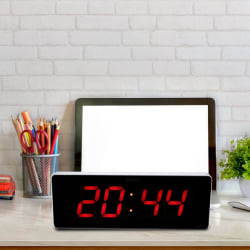 Digital LED Calendar Clock Temperature Wall Clocks EU Plug 1 36*13*3cm