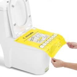 Unclog Toilet Disposable Sticker Easy To Fix Safe and Clean