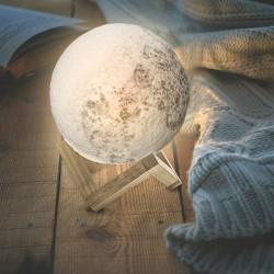 Månlampa 3D - 15cm -  Moon Lamp - Måne Lampa
