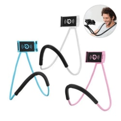 Nacke Lazy Mobilhållare Stand - Mobilhållare - Selfie-stick Blå