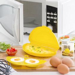 Omelett & Äggtillverkare i Mikron - Äggkokare för Mikrovågsugn