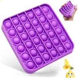 Pop it Leksak Fidget Toys - Bubbla Push Pop Leksak CE Purple FYRKANT - LILA