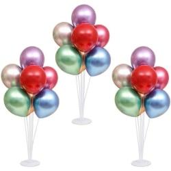 3 set ballongstativ kit 28 tum genomskinlig pinne med 21 festbal