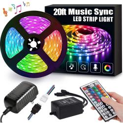 LED-List Stripe med RGB LED-Strip 12 meter SMD 5050 ljusslinga