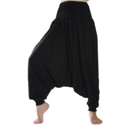 ABSOLUT4U  Harems byxa oriental yoga dans nöje. Svart one size