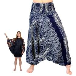 ABSOLUT4U  NY 3 in 1 haremsbyxor jumpsuit kjol/blus multifärg one size