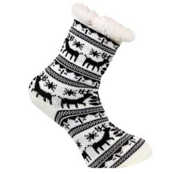 Ren fodrad socka med halkskydd Happy feet multifärg