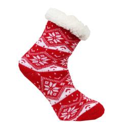 Snöflinga fodrad socka med halkskydd Happy feet multifärg