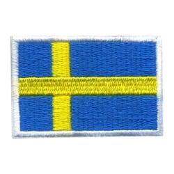 SVERIGE FLAGGA BRODYR TYG  L 4,5 cm H 3 cm multifärg