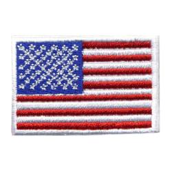 USA FLAGGA BRODYR TYG   L 4,5 cm H 3 cm multifärg