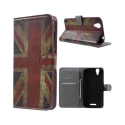 Acer Liquid Z630 läderfodral med kortfack - Brittisk flagga