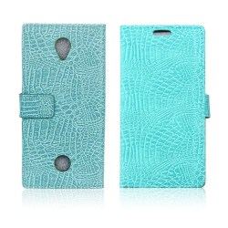 Acer Liquid Zest krokodilskinn textur läderfodral - Cyan