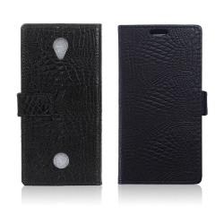 Acer Liquid Zest krokodilskinn textur läderfodral - Svart