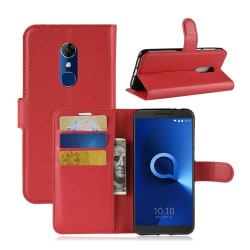 Alcaltel 3 mobilfodral konstläder silikon plånbok stående -