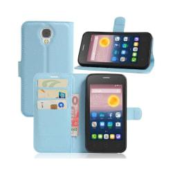 Alcatel Pixi 4 (5) 3G litchi läderfodral - Blå