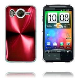 Aluminium Blade - Transparent Edge (Röd) HTC Desire HD Skal