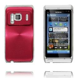 Aluminium Shield Transparent Edge (Röd) Nokia N8 Skal
