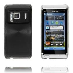Aluminium Shield Transparent Edge (Svart) Nokia N8 Skal