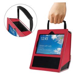 Amazon Echo Show Enfärgad fodral väska med handtag - Röd